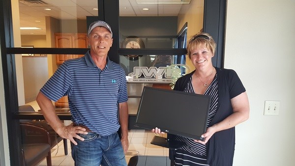 JWR donated a computer monitor to the Johnson Creek Chamber of Commerce